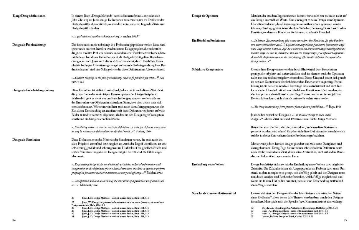 Design vs Gestaltung - Buchlayout Ansicht