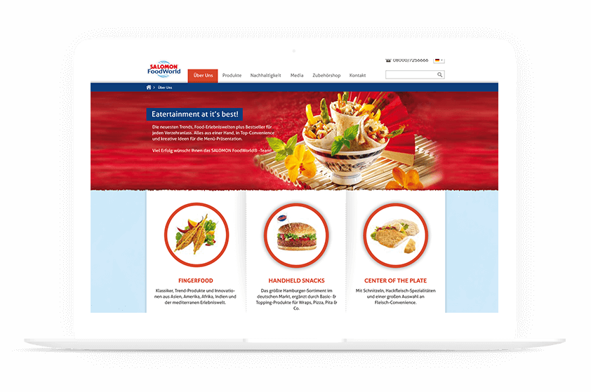 Webdesign Referenz Salomon Food World mockup