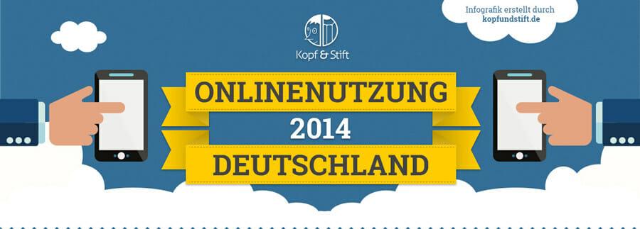 Infografik zur Onlinenutzung in Deutschland
