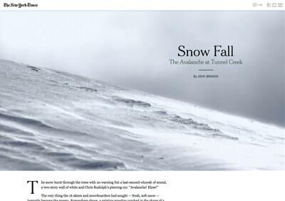Scrollytelling-snowfall