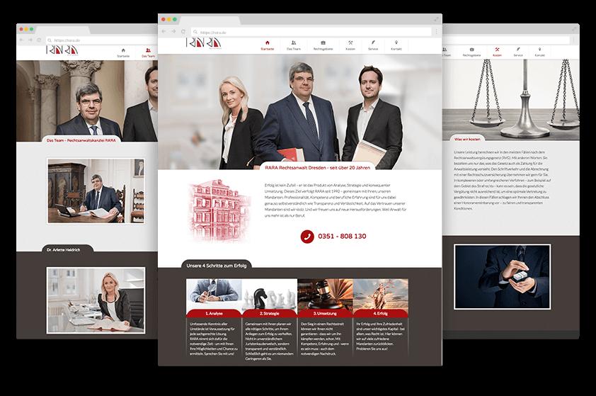 Webdesign Referenz Rasel Screens