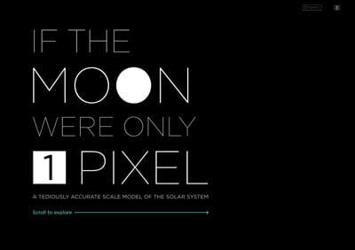 scrollytelling - if the moon where one pixel