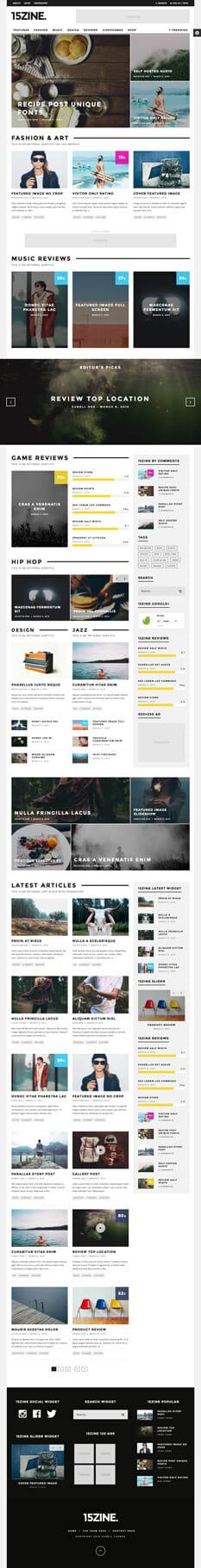 15zine - die besten Wordpress Themes 2016