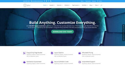 Divi - die besten Wordpress Themes 2016