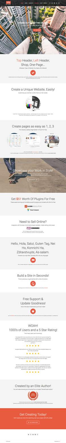 Epix Theme - die besten Wordpress Themes 2016