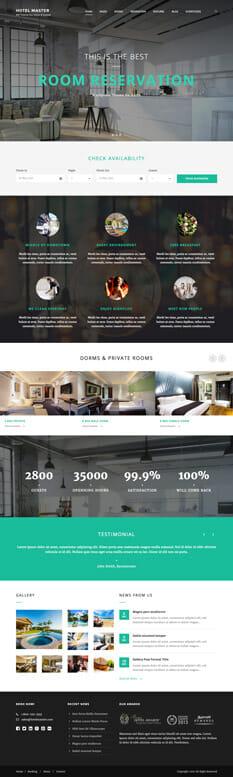 Hotel Master Theme - die besten Wordpress Themes 2016