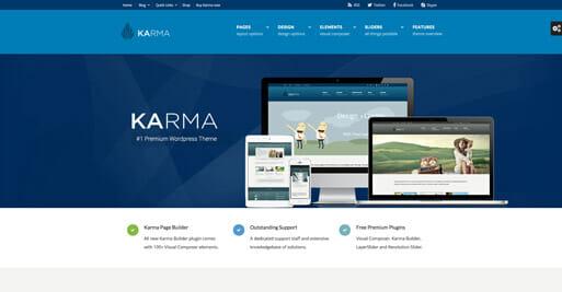 Karma Theme - die besten Wordpress Themes 2016