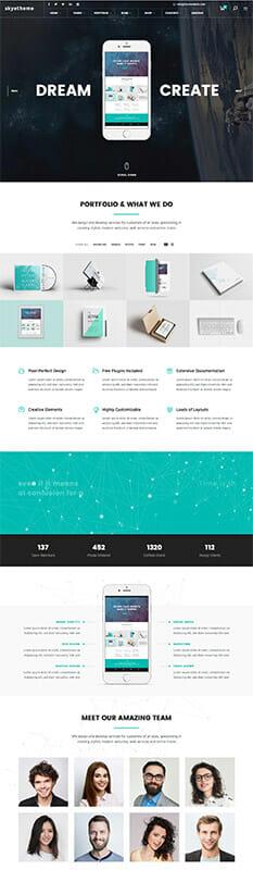Skye Theme - die besten Wordpress Themes 2016