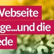 Webseite Website oder Homepage?