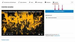 Youtube SEO: Neue Untertitel anlegen
