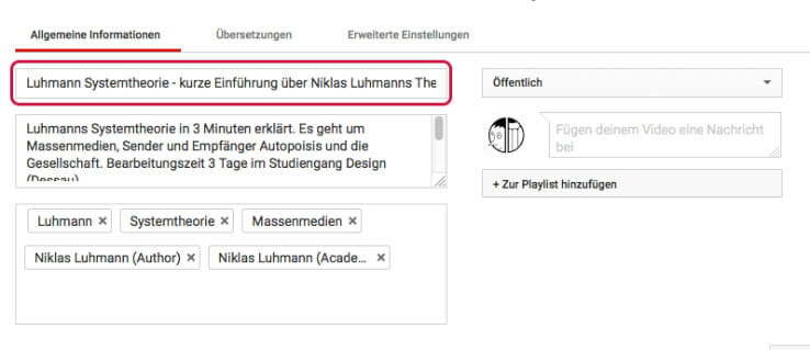 Youtube Seo Titel - ein wichtiger Youtube SEO Faktor