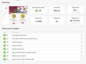 Website Speed Tools Pingdom
