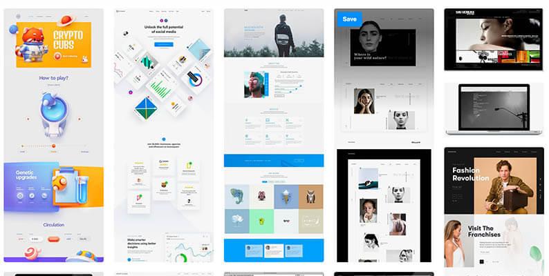 Designspiration - tolle Inspirationsquelle für Webdesigner