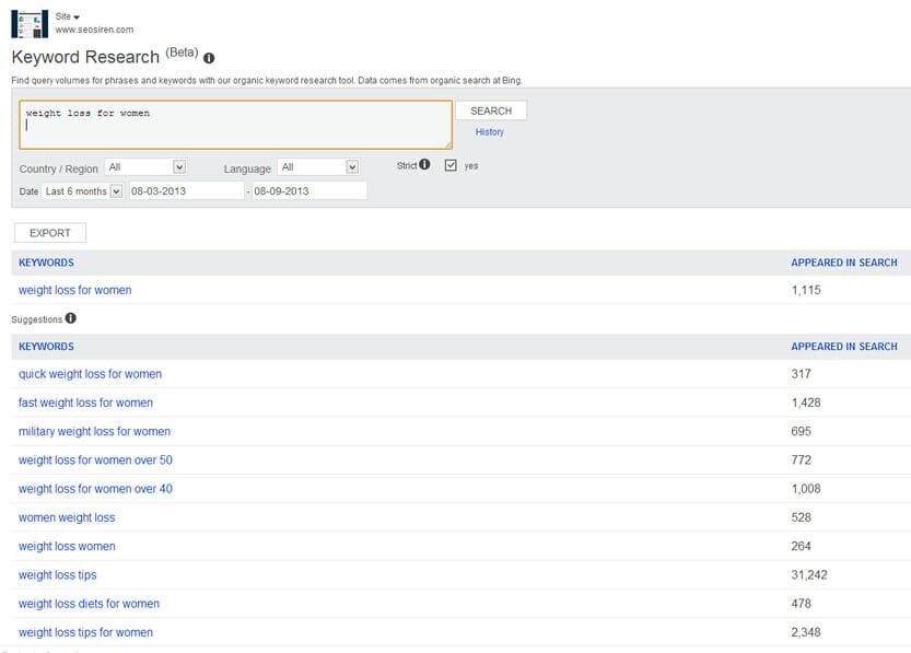Die Webmaster Tools von Bing sind keine echte Alternative zum Keyword Planner