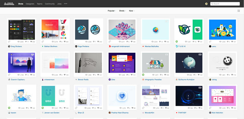 webdesign-inspirationen-dribbble