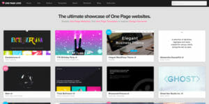 Webdesign Inspirationsquellen Onepagelove