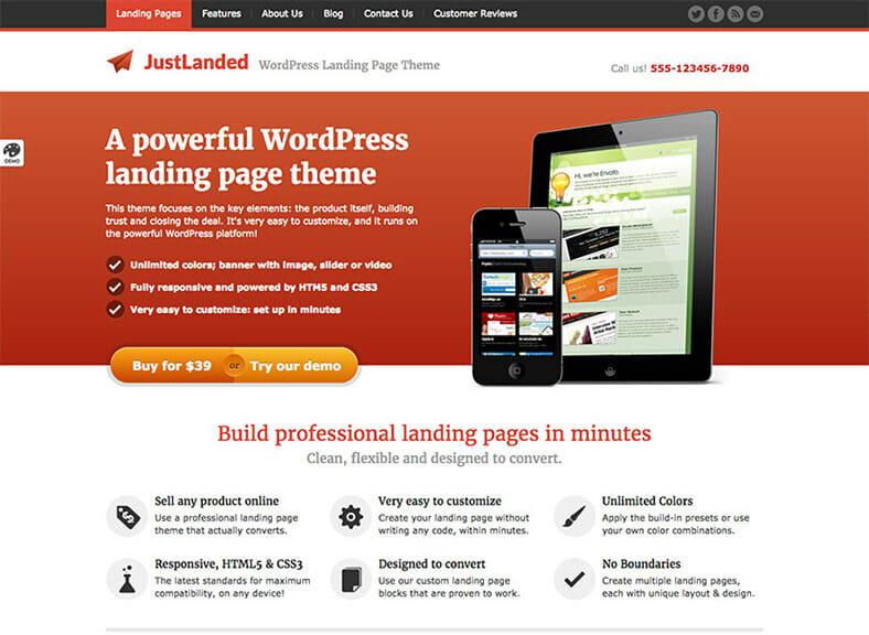 justlanded-landingpage-theme