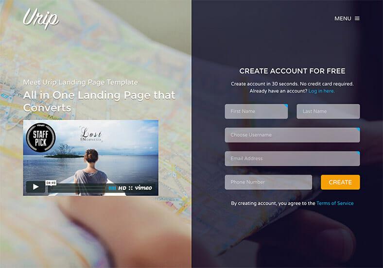 urip-landing-page-template