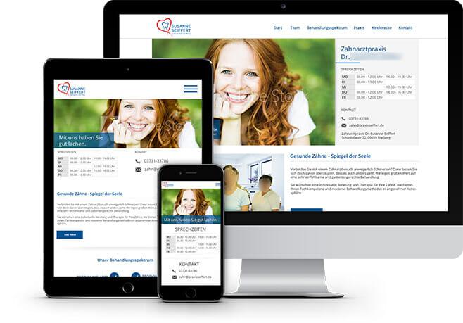 Unsere Referenzen in der Homepageerstellung für Zahnärzte