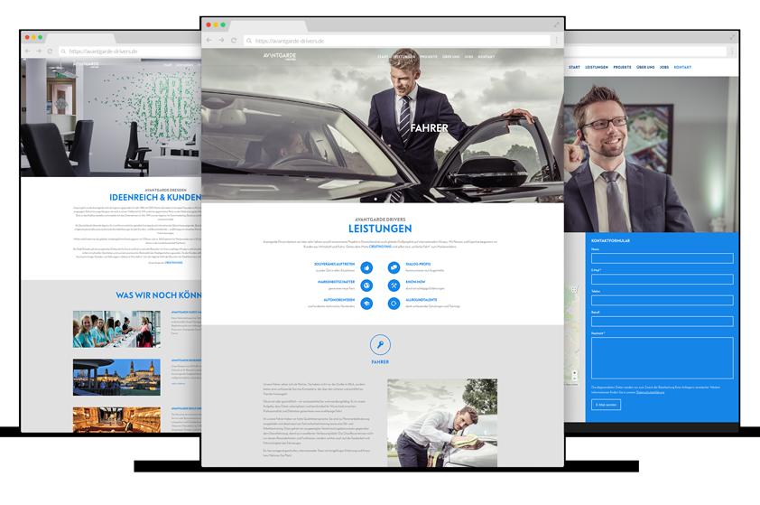 Webdesign Referenzen von Avantgarde Drivers