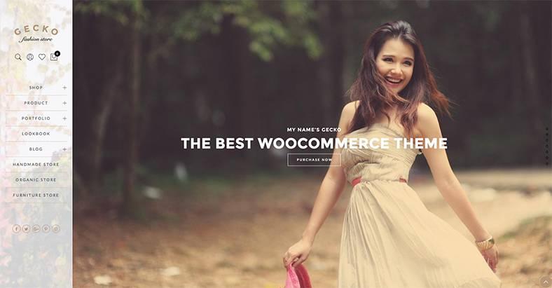 Das Gecko WordPress Theme gehört zu den besten e-Commerce Themes 2018