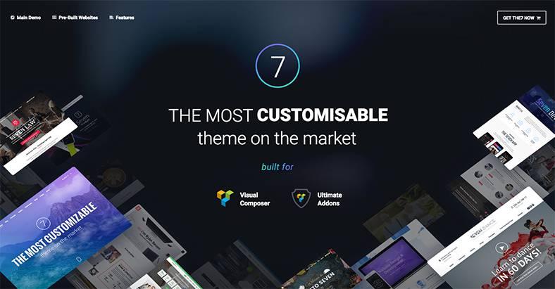 Das The7 Theme ist eines der besten WordPress Themes 2018