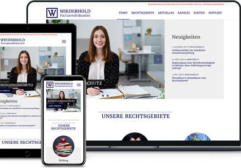 Webdesign Referenz von einer Anwaltskanzlei