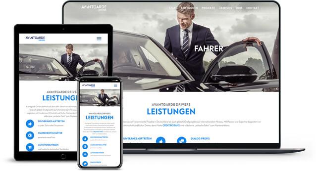 Webdesign Referenz von Avantgarde