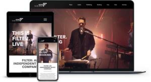 Webdesign referenz Filter Music Group