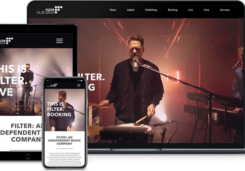 Webdesign referenz Filter Music Group