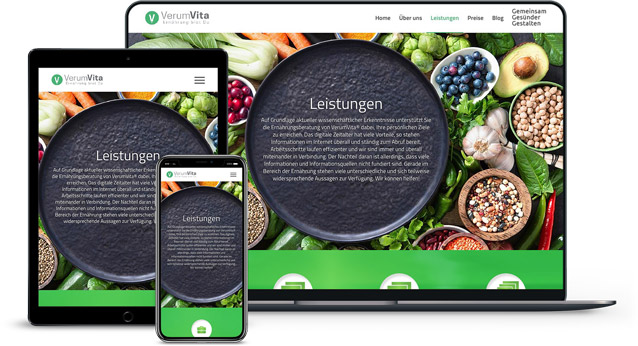 Webdesign Referenzen von VerumVita