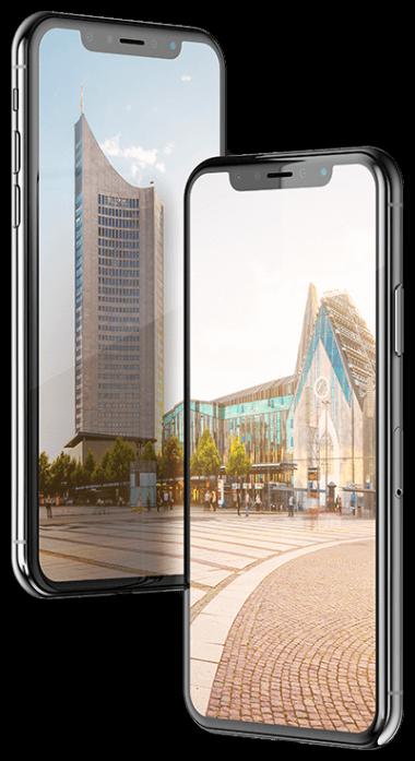iphone X Mockup für Leipzig