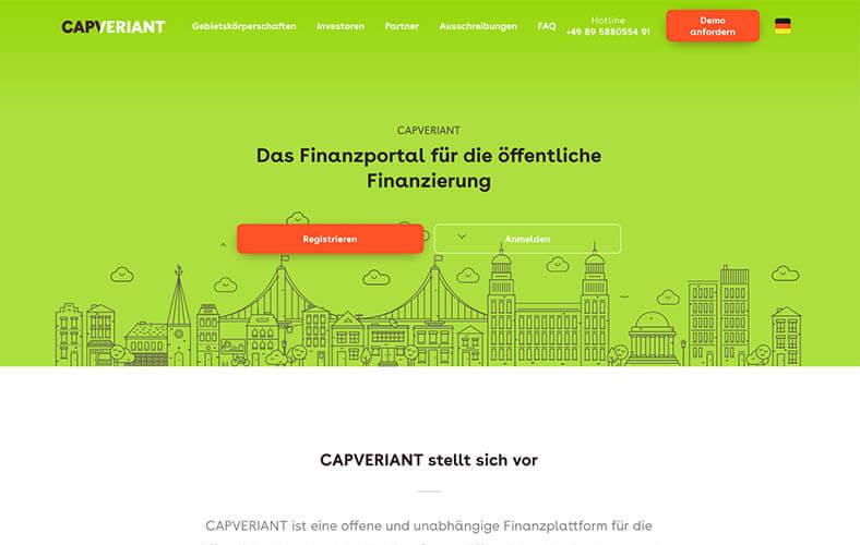 schoene-webseiten-_0004_Das Finanzportal für öffentliche Finanzierung in Europa CAPVERIANT