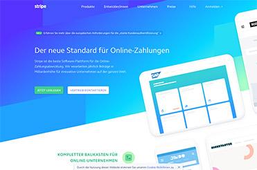 kräftige Farben mit Verlauf - ein weiteres Beispiel für ein Webdesign trend