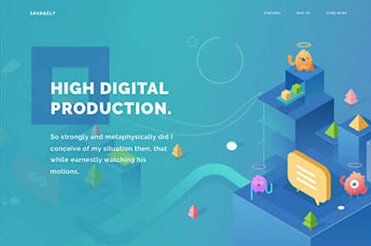 Webdesign mit isometrischen Darstellungen
