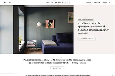 Ein Beispiel für Minimalismus im Webdesign