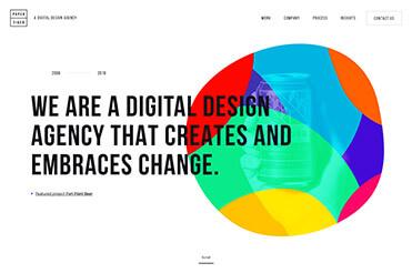 Ein Beispiel für organische Formen im Webdesign