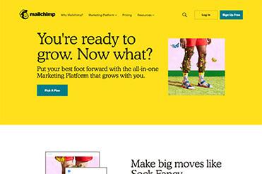 Auch Startups verwenden mittlerweile Serifenschriften in ihren Weblayouts