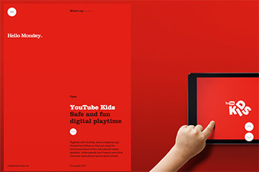 Ein Beispiel für ein Split Screen Webdesign