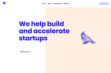 Beispiel für Splitscreen Webdesign