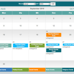 Events Plus Kalender Plugin