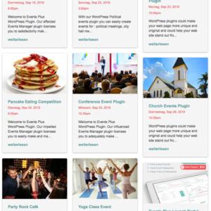 Events Plus Kalender Plugin