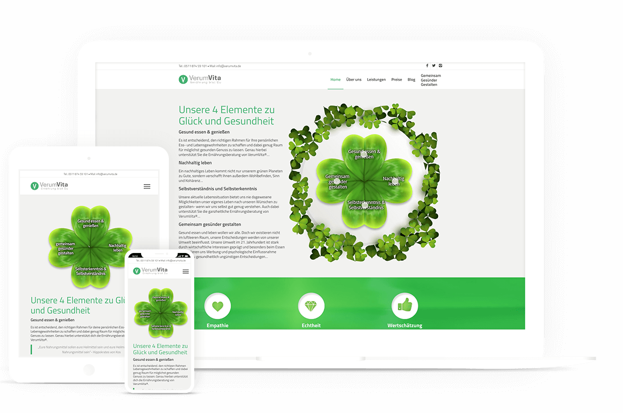Webdesign für Ernährungsberatung