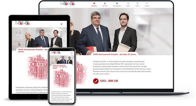 Webdesign Referenzen von RARA