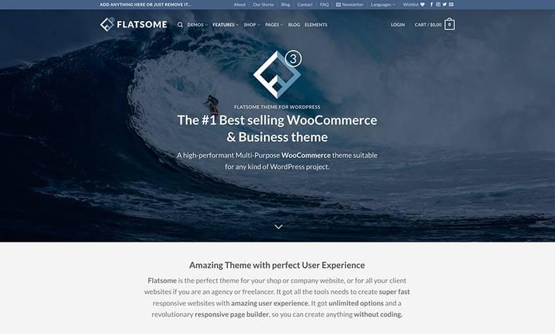 Flatsome Theme, das wohl beste e-Commerce Theme für WordPress im Jahr 2021