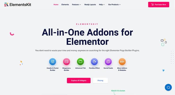elementor addons elementskit