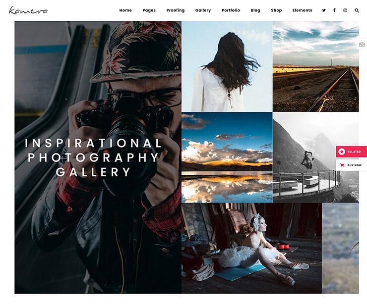Das Kamera Theme - das perfekte Wordpress Theme für Fotografen?